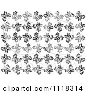 Clipart Of A Black And White Butterfly Seamless Background Pattern Royalty Free Vector Illustration