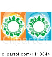 Clipart Of Globe Frames With Trees Royalty Free Vector Illustration