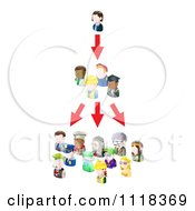 Clipart Of A Networking Social People Spreading An Idea Royalty Free Vector Illustration