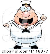 Cartoon Of A Smart Sailor With An Idea Royalty Free Vector Clipart