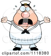Cartoon Of A Frightened Sailor Royalty Free Vector Clipart