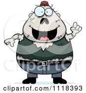 Cartoon Of A Smart Halloween Zombie With An Idea Royalty Free Vector Clipart