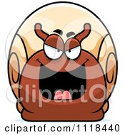 Cartoon Of A Sly Bully Snail Royalty Free Vector Clipart by Cory Thoman