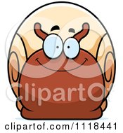Cartoon Of A Happy Snail Royalty Free Vector Clipart