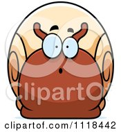 Cartoon Of A Surprised Snail Royalty Free Vector Clipart by Cory Thoman