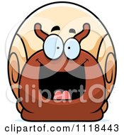 Cartoon Of An Excited Snail Royalty Free Vector Clipart by Cory Thoman