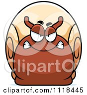 Cartoon Of An Angry Snail Royalty Free Vector Clipart by Cory Thoman