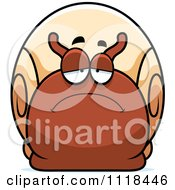 Cartoon Of A Depressed Sad Snail Royalty Free Vector Clipart by Cory Thoman