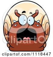 Cartoon Of A Frightened Snail Royalty Free Vector Clipart