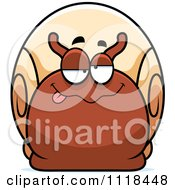 Cartoon Of A Dumb Or Drunk Snail Royalty Free Vector Clipart by Cory Thoman