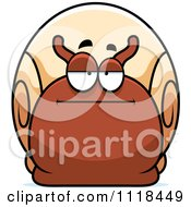 Cartoon Of A Bored Or Skeptical Snail Royalty Free Vector Clipart by Cory Thoman