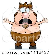 Cartoon Of A Frightened Pan Faun Royalty Free Vector Clipart by Cory Thoman