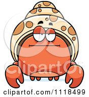 Cartoon Of A Bored Hermit Crab Royalty Free Vector Clipart