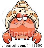 Cartoon Of A Dumb Hermit Crab Royalty Free Vector Clipart