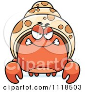 Cartoon Of An Angry Hermit Crab Royalty Free Vector Clipart by Cory Thoman