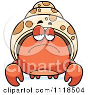 Cartoon Of A Depressed Hermit Crab Royalty Free Vector Clipart