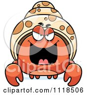 Cartoon Of A Sly Hermit Crab Royalty Free Vector Clipart