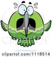 Frightened Green Hummingbird