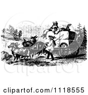 Clipart Of Retro Vintage Black And White People On Hay On A Horse Drawn Cart Royalty Free Vector Illustration by Prawny Vintage