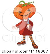 Cartoon Of A Trick Or Treating Halloween Kid In A Jack Costume Royalty Free Vector Clipart