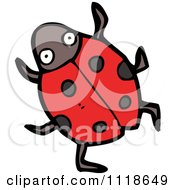 Cartoon Of A Red Ladybug Beetle 1 Royalty Free Vector Clipart