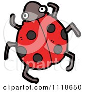 Cartoon Of A Red Ladybug Beetle 2 Royalty Free Vector Clipart