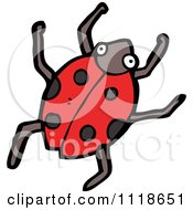 Cartoon Of A Red Ladybug Beetle 3 Royalty Free Vector Clipart