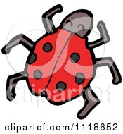 Cartoon Of A Red Ladybug Beetle 4 Royalty Free Vector Clipart
