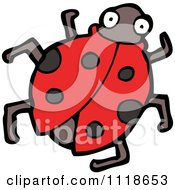 Cartoon Of A Red Ladybug Beetle 5 Royalty Free Vector Clipart