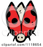 Cartoon Of A Red Ladybug Beetle 6 Royalty Free Vector Clipart