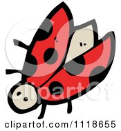 Cartoon Of A Red Ladybug Beetle 7 Royalty Free Vector Clipart by lineartestpilot