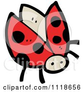 Cartoon Of A Red Ladybug Beetle 8 Royalty Free Vector Clipart by lineartestpilot