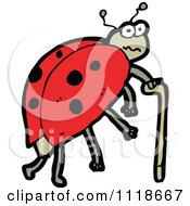 Cartoon Of A Red Ladybug Beetle 9 Royalty Free Vector Clipart by lineartestpilot