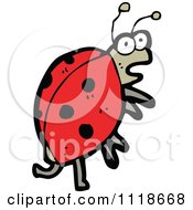 Cartoon Of A Red Ladybug Beetle 10 Royalty Free Vector Clipart by lineartestpilot
