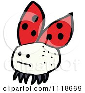 Cartoon Of A Red Ladybug Beetle 11 Royalty Free Vector Clipart by lineartestpilot