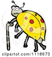 Cartoon Of A Yellow Ladybug Beetle 11 Royalty Free Vector Clipart by lineartestpilot