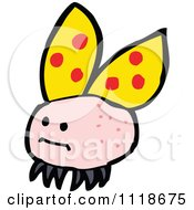 Cartoon Of A Yellow Ladybug Beetle 13 Royalty Free Vector Clipart by lineartestpilot
