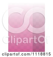 Clipart Of A Background Of Pink Checkers And Gradient Royalty Free Vector Illustration