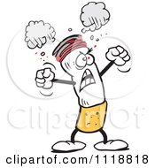 Cartoon Of A Furious Cigarette Protesting Royalty Free Vector Clipart by Johnny Sajem