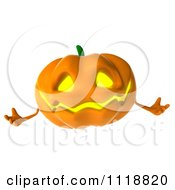 Clipart Of A 3d Halloween Jackolantern Royalty Free CGI Illustration by Julos