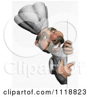 Clipart Of A Sketched Chef Pointing To A Sign 2 Royalty Free Illustration
