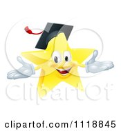 Clipart Of A Star Graduate Mascot Royalty Free Vector Illustration