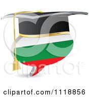 Clipart Of A 3d Graduation Bulgarian Flag Chat Balloon Royalty Free Vector Illustration
