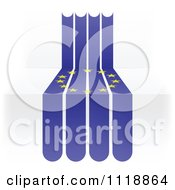 Clipart Of An European Flag In Stripes On 3d Steps Royalty Free Vector Illustration by Andrei Marincas