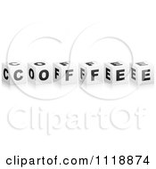 Clipart Of 3d Black And White COFFEE Boxes With A Reflection Royalty Free Vector Illustration by Andrei Marincas