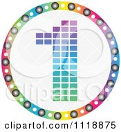 Clipart Of A Round Colorful Number 1 Icon Royalty Free Vector Illustration by Andrei Marincas