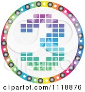 Clipart Of A Round Colorful Number 3 Icon Royalty Free Vector Illustration by Andrei Marincas