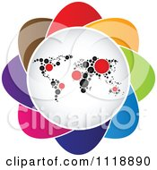 Clipart Of A Colorful Map Icon Royalty Free Vector Illustration by Andrei Marincas