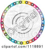Clipart Of A Round Colorful Original Icon Royalty Free Vector Illustration