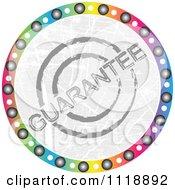 Round Colorful Guarantee Icon
